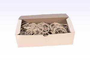 Gummibånd 220x5mm HVID ca. 130stk - 500g/pak