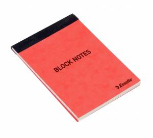 Notesblok Esselte linieret A7 toplimet 50bl/blk13694