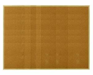 Opslagstavle kork enkeltsidet 120x90cm