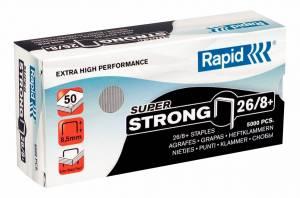 Hæfteklamme galvaniseret 26/8+ Rapid SuperStrong - 5000stk/æsk