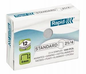 Hæfteklamme Rapid Standard 21/4 galvaniserede 1000stk/pak