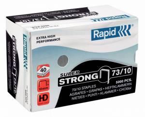 Hæfteklammer galvaniseret 73/10 Rapid SuperStrong - 5000stk/pak