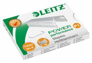 Hæfteklammer Leitz Power Performance  P1 No 8 - 1000stk/pak