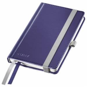 Notesbog Leitz Style A6 Hardcover linjeret 80 ark - BLÅ