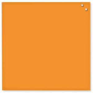 Glastavle Naga magnetisk 45x45cm orange