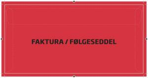 Kuverter faktura/følgesed. rød M65 110x220mm 250stk/ka