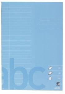 Skolehæfte Bantex A4 lin 32 linjer 40bl 70g lys blå