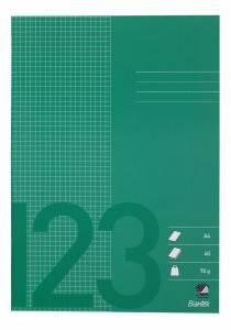 Skolehæfte Bantex A4 kvad 5x5mm 40bl 70g græsgrøn