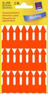 Etiketter Avery (3008) PIL 39x9mm neon orange (63)
