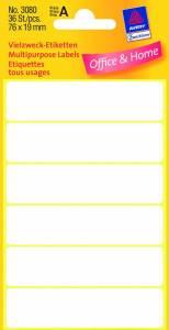 Etiket Avery (3080) håndskrivning hvid 76x19mm - 36stk/pak