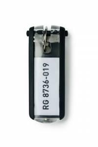 Nøgleskilte til Durable Keybox sort 65x25mm