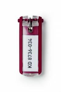 Nøgleskilte til Durable Keybox rød 65x25mm