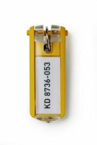 Nøgleskilte til Durable Keybox gul 65x25mm