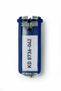 Nøgleskilte til Durable Keybox mørk blå 65x25mm