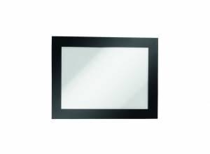 Skilt DURAFRAME® selvklæbende A6 m/sort ramme 2stk/pak
