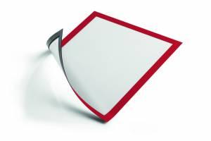 Skilt DURAFRAME® MAGNETIC A4 m/rød ramme 5stk/pak