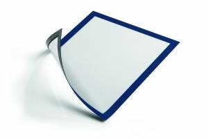 Skilt DURAFRAME® MAGNETIC A4 m/blå ramme 5stk/pak