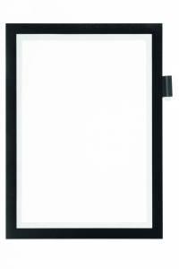 DURAFRAME® NOTE A4 selvklæbende magnetisk sort - 1stk/pk