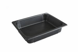 Plastbakke Færch P2325-65T, 1/2 (4055ml) PP sort høj - 96stk/kar