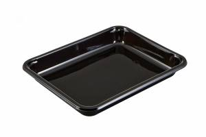 Plastbakke CPET (Færch 2227-1T) t. ovn/micro 890ml sort - 368stk/kar