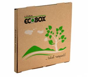 Pizzaæske Eco - box brun 32x32x3cm - 100stk/pk
