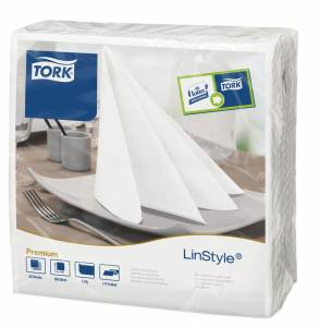 Serviet Tork Premium Linstyle 39x39 Hvid - 600stk/kar