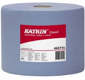 Aftørringspapir Katrin C.L 2 BLÅ (464118) 2-lag Ø29cm 22cmx380m - 2rl