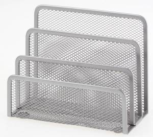 Brevholder OD sølv metal 3 rum til breve m.m.