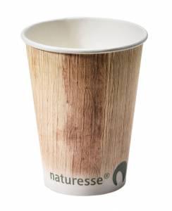 Kaffebæger Palmebladsmotiv komposterbar pap 8oz (20cl) - 1000stk