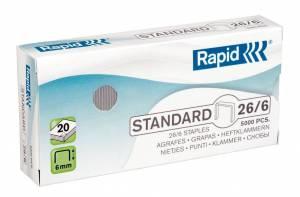 Hæfteklammer galvaniseret Rapid Standard 26/6 - 5000stk/pak