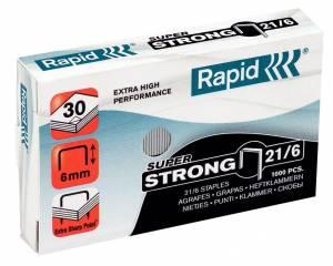 Hæfteklammer galvaniseret 21/6  Rapid SuperStrong - 1000stk/pak