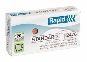 Hæfteklammer KOBBER 24/6 Rapid  Standard - 1000stk/pak