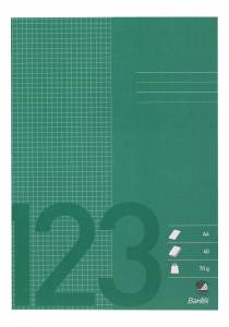 Skolehæfte A4 kvad. 5x5 mm 40 sider 70g græs grøn