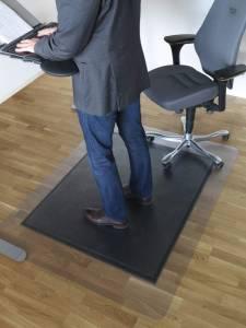 Måtte Yoga sid og stå 120x150cm x11.5mm m/skrå kant