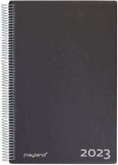Mayland Aftalekalender (2023!!!) 1dag/side A4  - Sort