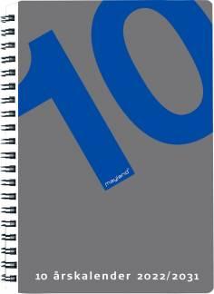 Mayland 10-årskalender 2022/2031, A5 15x21cm - med illustration