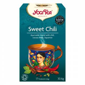 Te, Yogi Tea Sweet Chili Øko - 6 pk. á 17 breve