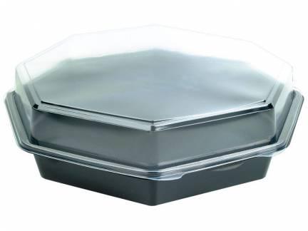 Duni Octaview Plastbakke m/låg 8-kantet 1800ml - 75stk/kar